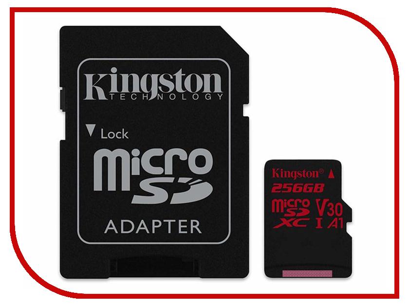 Карта памяти 256Gb - Kingston MicroSDXC Class 10 Canvas React UHS-I U3 V30 + SD адаптер SDCR/256GB цены онлайн