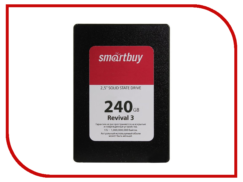 Жесткий диск 240Gb - SmartBuy Revival 3 SB240GB-RVVL3-25SAT3 ssd накопитель smartbuy revival 3 sb120gb rvvl3 25sat3 120gb sata iii 2 5