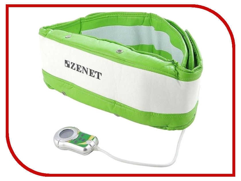 Массажер Zenet ZET-750 White-Green - пояс массажер health hoop footstretch green