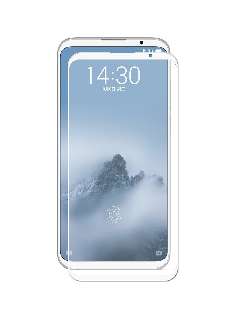 цена на Защитное стекло для Meizu 16 Plus Gecko 2D Full Screen White ZS26-GMEIM16Plus-2D-WH
