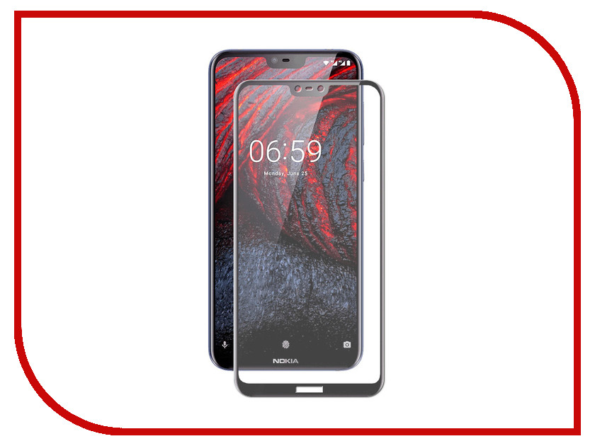 Аксессуар Защитное стекло для Nokia 6.1+ Gecko 2D Full Screen Black ZS26-GNOK6.1+-2D-BL new black for nokia lumia 630 635 lcd display touch screen with digitizer assembly replacement parts free shipping with tools
