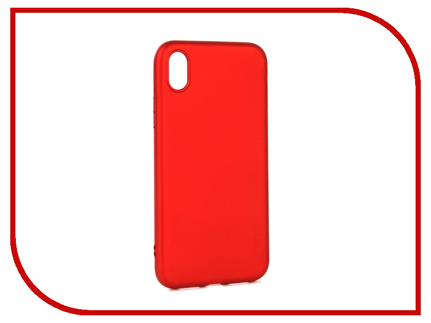 Аксессуар Чехол для APPLE iPhone XR X-Level Guardian Red 2828-187 аксессуар чехол x level guardian для apple iphone 7 8 plus burgundy 2828 015