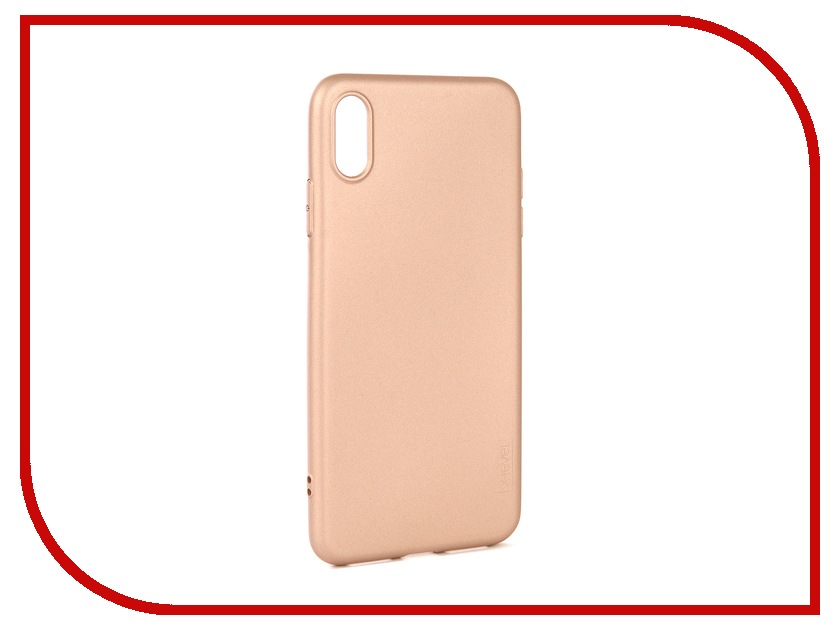 Аксессуар Чехол для APPLE iPhone XS Max X-Level Guardian Gold 2828-191 аксессуар чехол x level guardian для apple iphone 7 8 plus burgundy 2828 015