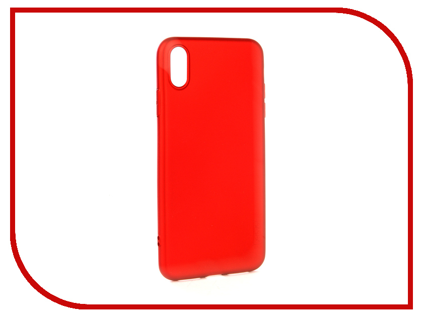 Аксессуар Чехол для APPLE iPhone XS Max X-Level Guardian Red 2828-192 аксессуар чехол x level guardian для apple iphone 7 8 plus burgundy 2828 015