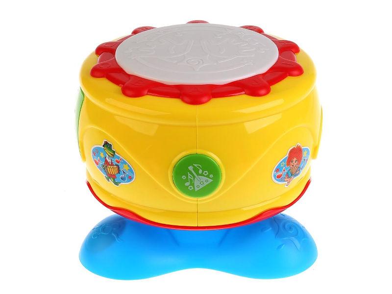 Детский музыкальный инструмент Умка Развивающий барабан B1410132-R детский музыкальный инструмент onlitop барабан 679155