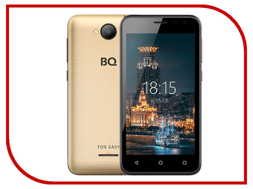 Сотовый телефон BQ 4501G Fox Easy Gold new creative simulation fox toy polyethylene