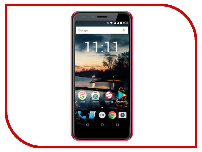 Сотовый телефон SENSEIT C155 Red сотовый телефон jinga joy red