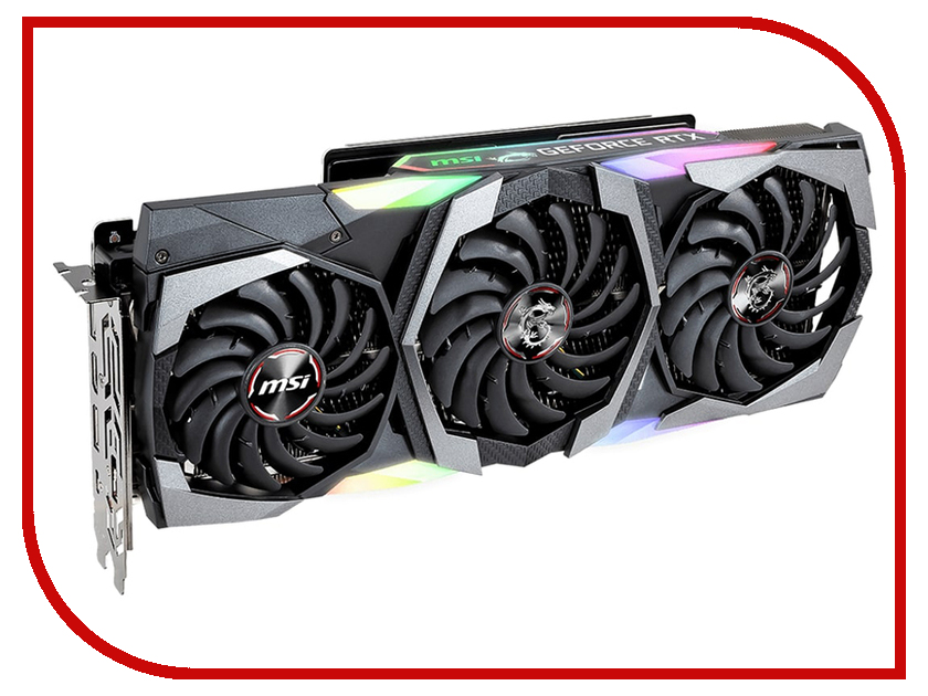 Видеокарта MSI GeForce RTX 2080 PCI-E 3.0 8192MB 256 bit HDMI HDCP GAMING X TRIO