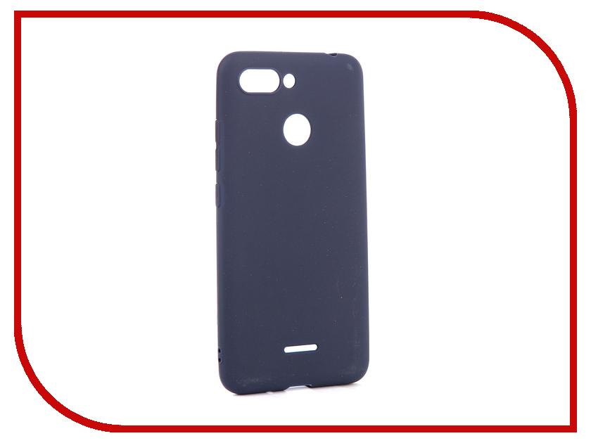 Аксессуар Чехол для Xiaomi Redmi 6 Zibelino Soft Matte Dark Blue ZSM-XIA-6-DBLU чехол книжка red line book type для xiaomi redmi 5 black