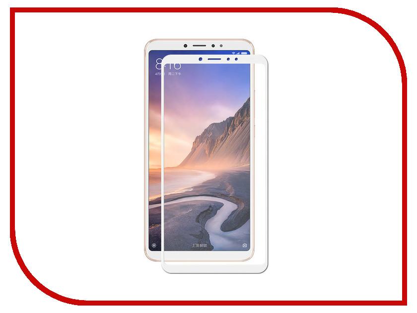 Аксессуар Защитное стекло для Xiaomi Mi Max 3 2018 ZibelinoTG Full Screen White ZTG-FS-XMI-MAX3-WHT naxtop 1pc screen film for xiaomi mi 5c
