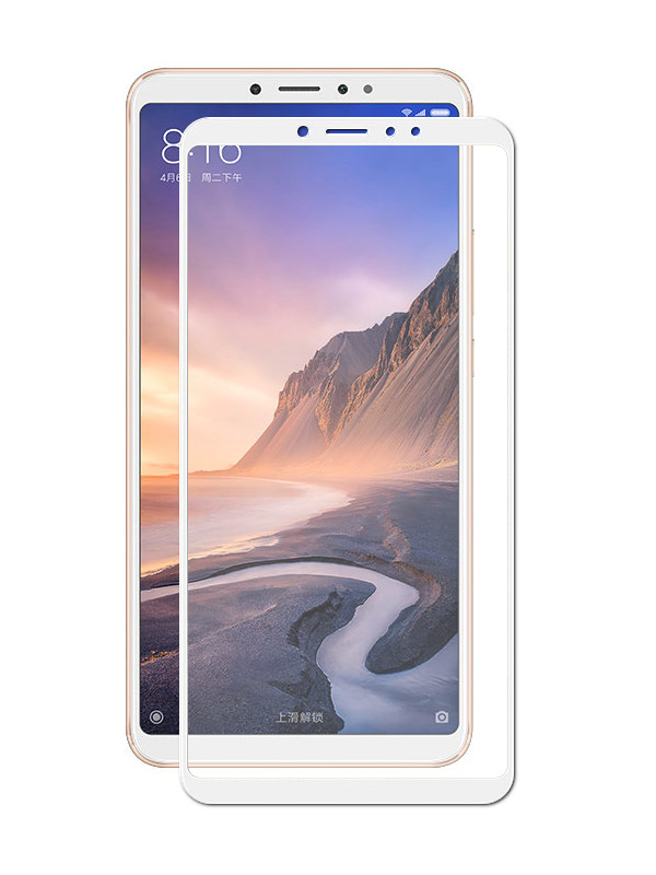 Защитное стекло Zibelino для Xiaomi Mi Max 3 2018 Tempered Glass Full Screen White ZTG-FS-XMI-MAX3-WHT