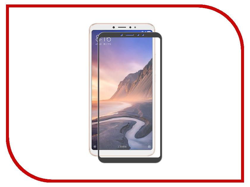 Аксессуар Защитное стекло для Xiaomi Mi Max 3 2018 ZibelinoTG Full Screen Black ZTG-FS-XMI-MAX3-BLK аксессуар чехол для xiaomi mi max 2 pero soft touch black prstc mmax21b