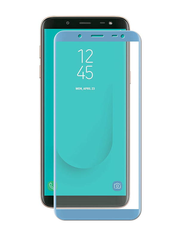 Аксессуар Защитное стекло для Samsung Galaxy J6 2018 J600F ZibelinoTG Full Screen Blue ZTG-FS-SAM-J600-BLU