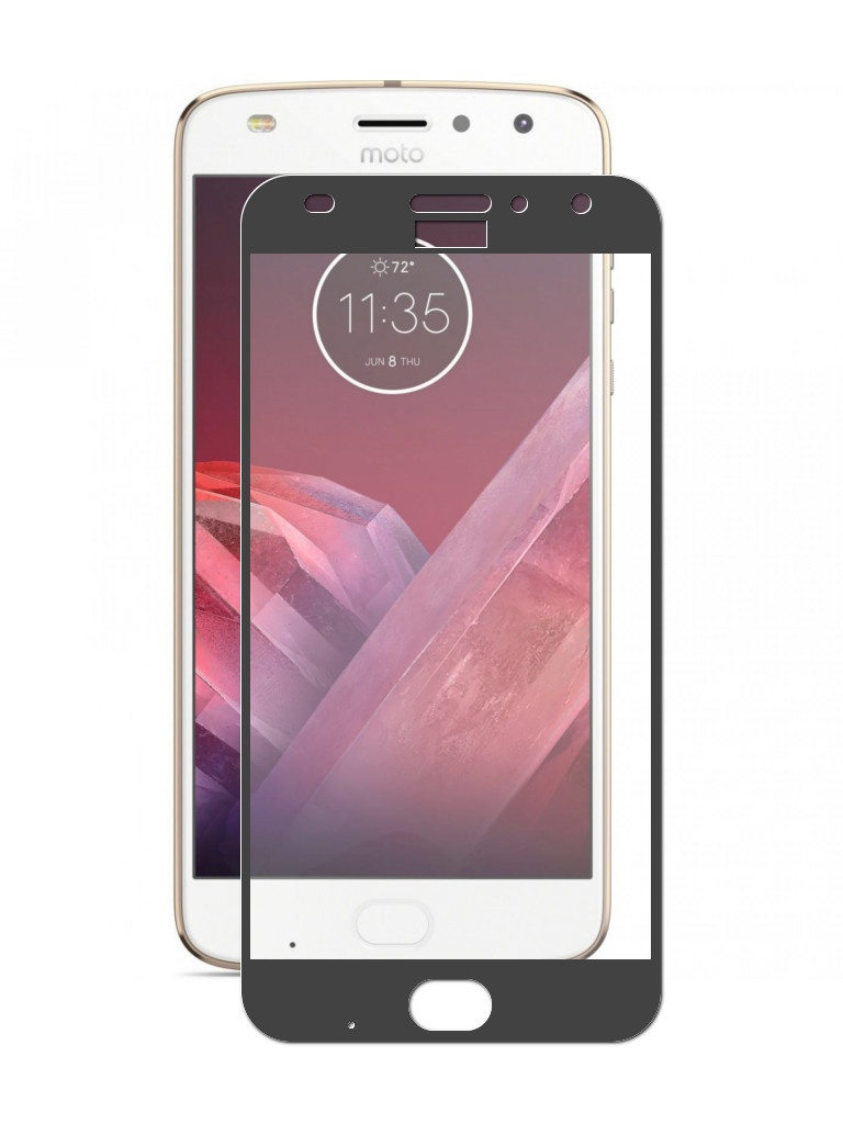 Аксессуар Защитное стекло ZibelinoTG для Motorola Moto Z2 Play Full Screen Black ZTG-FS-MOT-Z2-PL-BLK цена