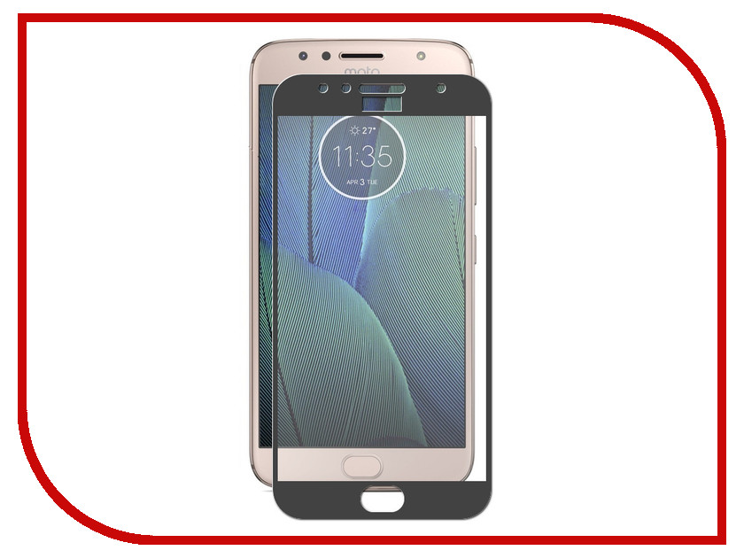 Аксессуар Защитное стекло для Motorola Moto G5S Plus ZibelinoTG Full Screen Black ZTG-FS-MOT-G5S-PL-BLK 2pcs screen protector for moto g5s plus high clear premium tempered glass