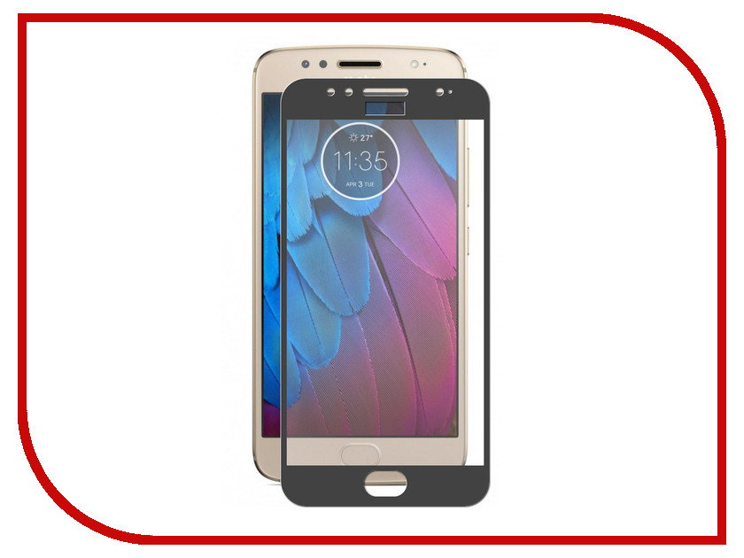Аксессуар Защитное стекло для Motorola Moto G5S ZibelinoTG Full Screen Black ZTG-FS-MOT-G5S-BLK 2pcs screen protector for moto g5s plus high clear premium tempered glass