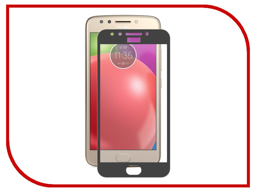 Аксессуар Защитное стекло для Motorola Moto E4 Plus ZibelinoTG Full Screen Black ZTG-FS-MOT-E4-PL-BLK