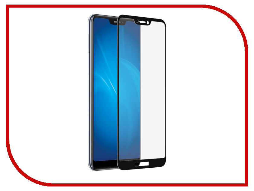 Аксессуар Защитное стекло для Huawei Honor Play 2018 ZibelinoTG Full Screen Black ZTG-FS-HUA-HON-PLAY-BLK lcd screen with touch screen digitizer assembly full sets for huawei honor 3x t20 black or white new