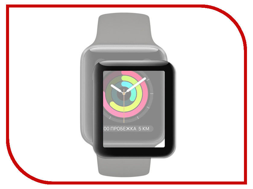 Аксессуар Защитное стекло для APPLE Watch 42mm Neypo 3D Full Glass Black 3DNG3805 2017 hot 42mm parnis black dial date stainless steel sapphire crystal luminous marks miyota automatic mechanical men s watch