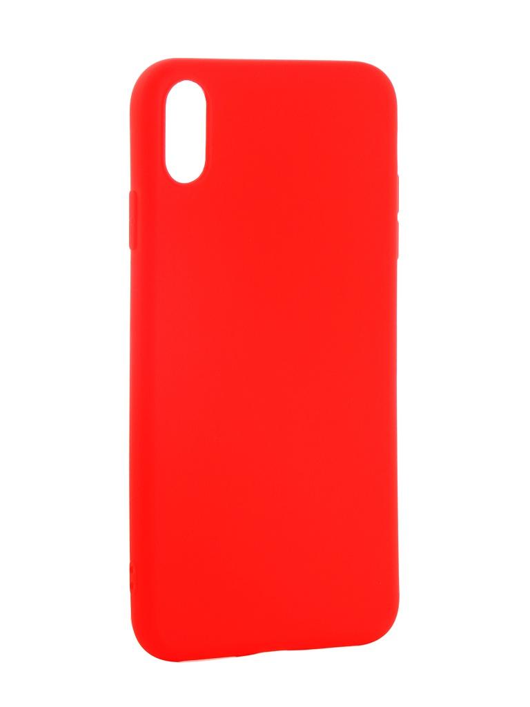 Аксессуар Чехол Neypo для APPLE iPhone XS Max Soft Matte Red NST5455