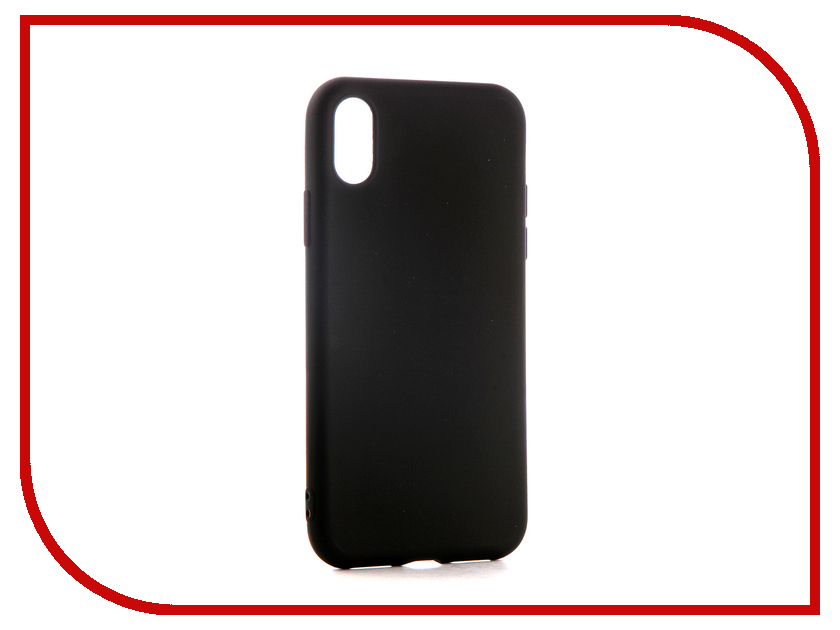 Аксессуар Чехол для APPLE iPhone XS Neypo Soft Matte Black NST5459 аксессуар чехол для apple iphone xs max neypo soft matte red nst5455
