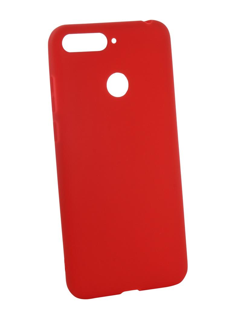 Фото - Аксессуар Чехол Neypo для Honor 7C Soft Matte Red NST4617 аксессуар чехол для honor 7c neypo premium burgundy nsb5743