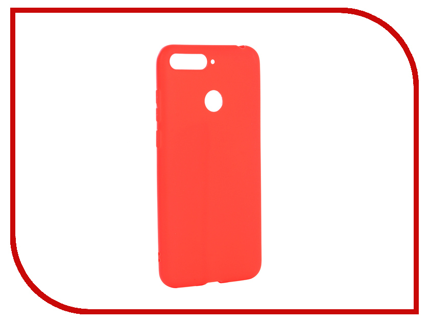 Аксессуар Чехол для Huawei Y6 Prime 2018 Neypo Soft Matte Red NST4619 чехол red line unit для huawei y6 prime 2018 black