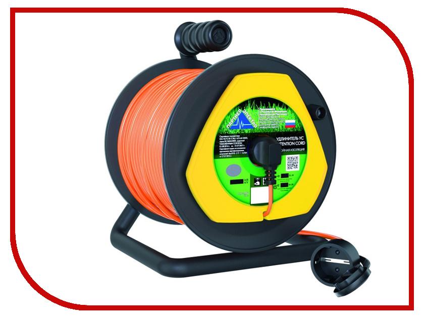 Удлинитель Партнёр-Электро GardenLine 3x0.75 10A с заземлением 40m Orange cord UG104B-140BL бытовой удлинитель с заземлением volsten s 3x1 5 z 9311