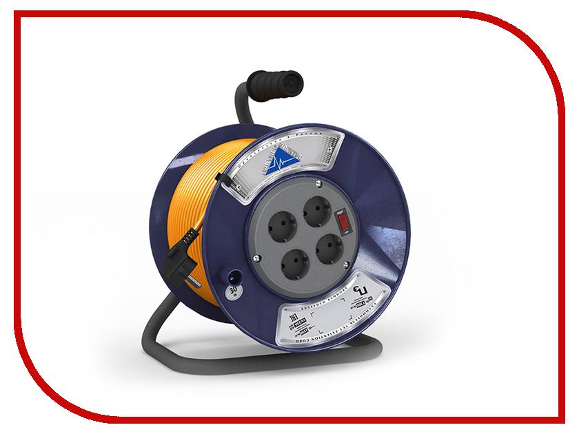Партнёр-Электро PowerLine 4 Sockets 3x0.75 10A с заземлением 20m Orange cord UK104B-420DB электро акустическое устройство kasun 10 ktv kfd 10c14