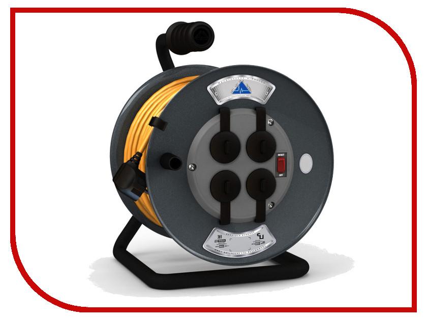 Удлинитель Партнёр-Электро ProfiLine 4 Sockets 3x1.0 16A с заземлением 40m Orange cord UP215C-440GR электро акустическое устройство kasun 10 ktv kfd 10c14