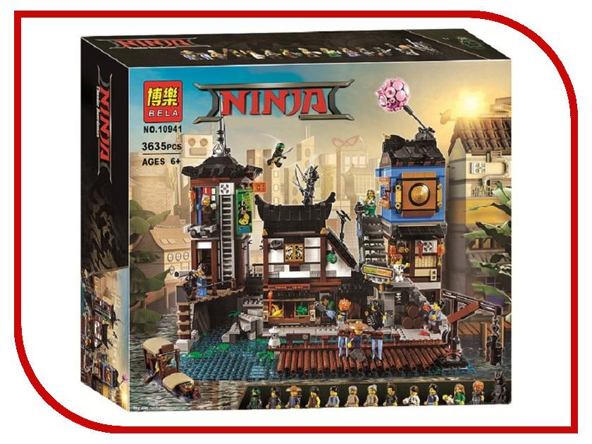 Конструктор Bela Ninja Порт Ниндзяго Сити 3635 дет. 10941 755pcs bela 10325 ninja db x nya pythor kai masters of spinjitzu ninja building block toys compatible with lego