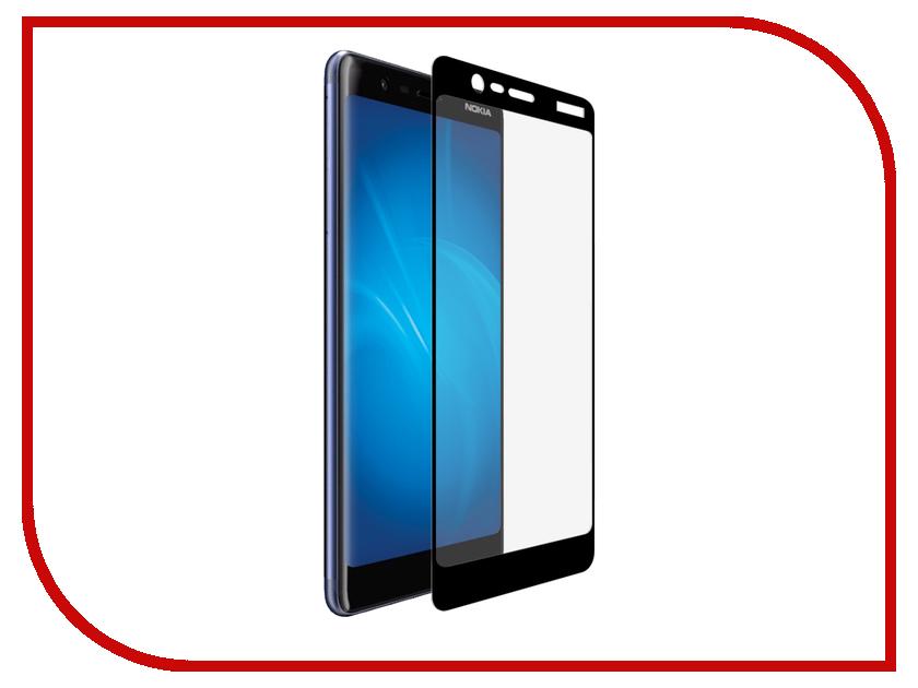 Аксессуар Защитное стекло для Nokia 5.1 2018 Onext Black Frame 41814 защитное стекло для nokia lumia 635 onext