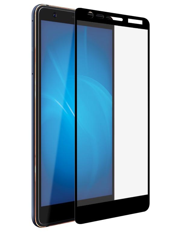 Аксессуар Защитное стекло Onext для Nokia 3.1 2018 3D Black 41817 цена и фото