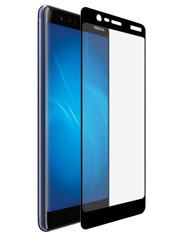 Аксессуар Защитное стекло Onext для Nokia 5.1 2018 3D Black 41819 защитное стекло onext для nokia 7 plus 2018 641 41768