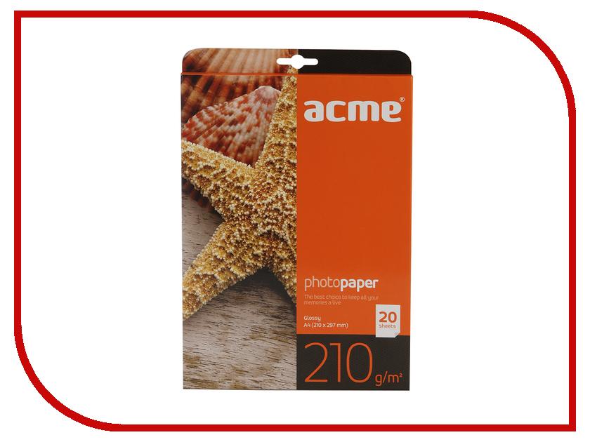 Фотобумага Acme Premium глянцевая A4 210g/m2 20 листов цены онлайн
