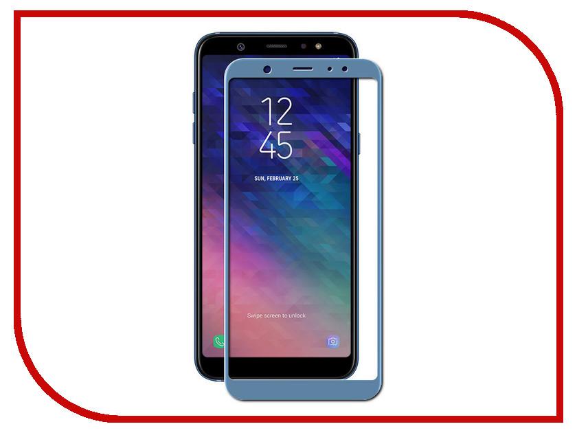 Аксессуар Защитное стекло для Samsung Galaxy A6 Plus Onext Full Glue Blue 41689 аксессуар защитное стекло для samsung galaxy j4 plus onext 41914