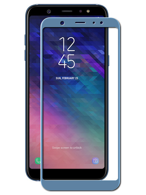 Аксессуар Защитное стекло Onext для Samsung Galaxy A6 Plus Full Glue Blue 41689
