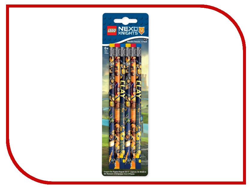Набор карандашей Lego Nexo Knights 6шт 51546 ланч бокс lego nexo knights 40511734