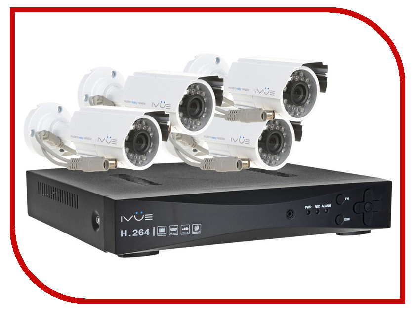 Видеонаблюдение iVUE AHD IVUE-1080P AHC-B4 k198g 1080p