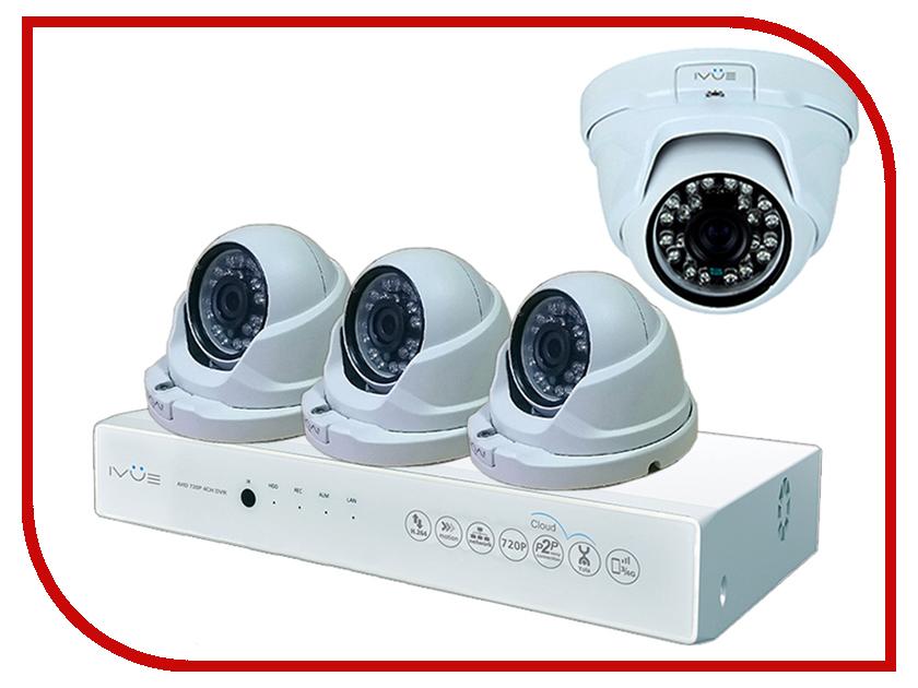 Видеонаблюдение iVUE AHD IVUE-1080P AHC-D4 ivue d5004 ahc d4 для дома и офиса 4 4 комплект видеонаблюдения