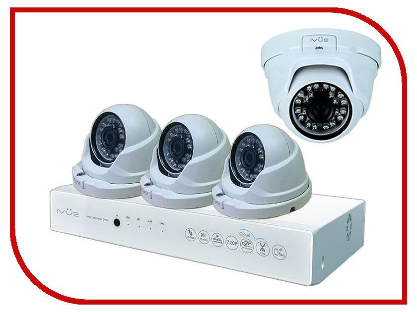 Видеонаблюдение iVUE AHD 1MPX D5008-PPC-D4 ivue d5004 ahc d4 для дома и офиса 4 4 комплект видеонаблюдения
