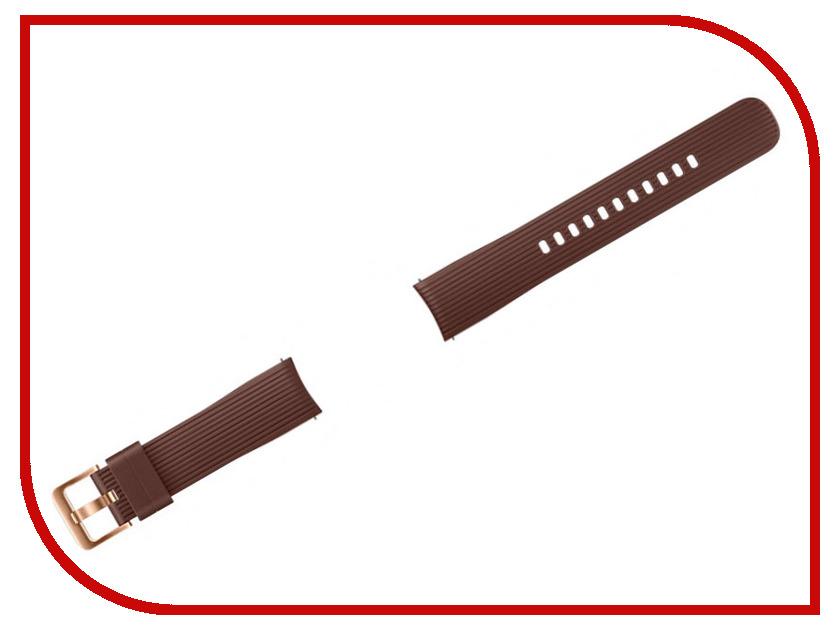 Аксессуар Ремешок Samsung Galaxy Watch 42mm Silicone Brown ET-YSU81MAEGRU high quality 20mm 22mm 24mm leather watch strap man watch straps black brown gray stainless steel buckle thick line watch band