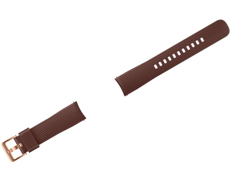 Аксессуар Ремешок Samsung Galaxy Watch 42mm Silicone Brown ET-YSU81MAEGRU аксессуар ремешок samsung galaxy watch 42mm silicone silver et ysu81msegru