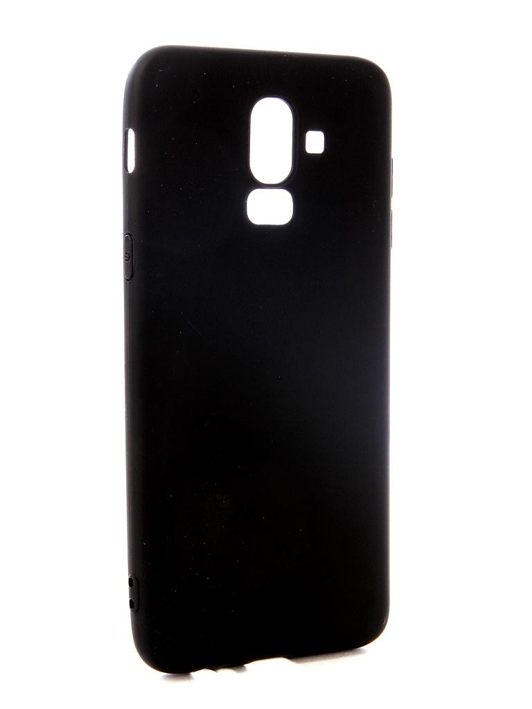 Аксессуар Чехол Pero для Samsung J8 2018 Soft Touch Black PRSTC-J818B