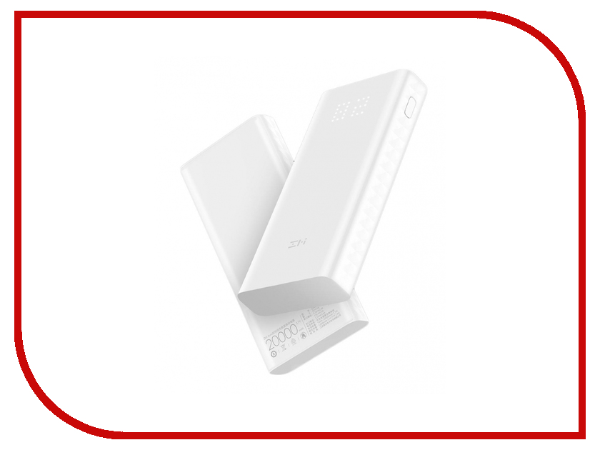 Аккумулятор Xiaomi ZMI Power Bank Aura QB821 20000mAh White аккумулятор xiaomi zmi power bank aura qb821 20000mah white