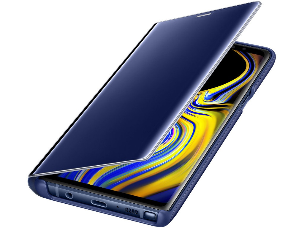 Аксессуар Чехол Samsung Galaxy Note 9 Clear View Standing Cover Blue EF-ZN960CLEGRU аксессуар чехол книжка samsung galaxy note 9 led view cover violet ef nn960pvegru