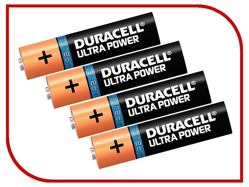 Батарейка AAA - Duracell LR03 4BL Ultra Power (4 штуки) батарейка aaa philips lr03e2b 10 ultra 2штуки