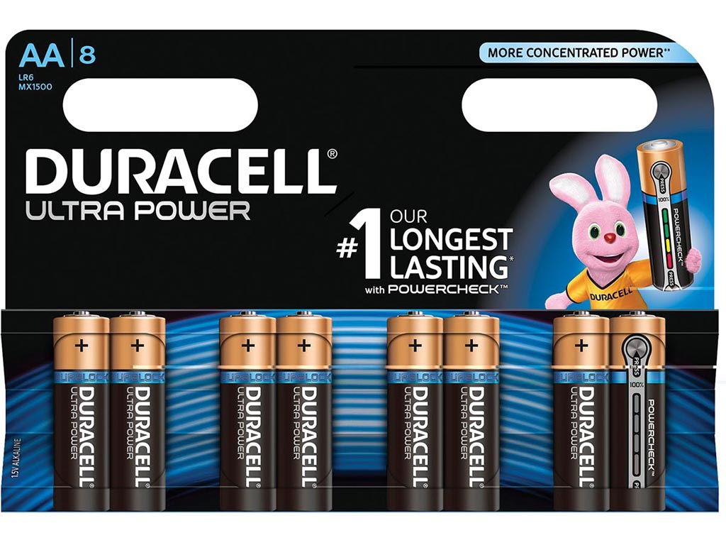 Батарейка AA - Duracell LR6 8BL Ultra Power (8 штуки)