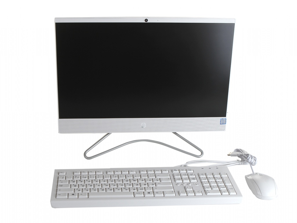 Моноблок HP 22-c0020ur 4HB50EA Snow White (Intel Core i3-8130U 2.2 GHz/4096Mb/1000Gb/No ODD/Intel HD Graphics/Wi-Fi/21.5/1920x1080/Windows 10 64-bit)