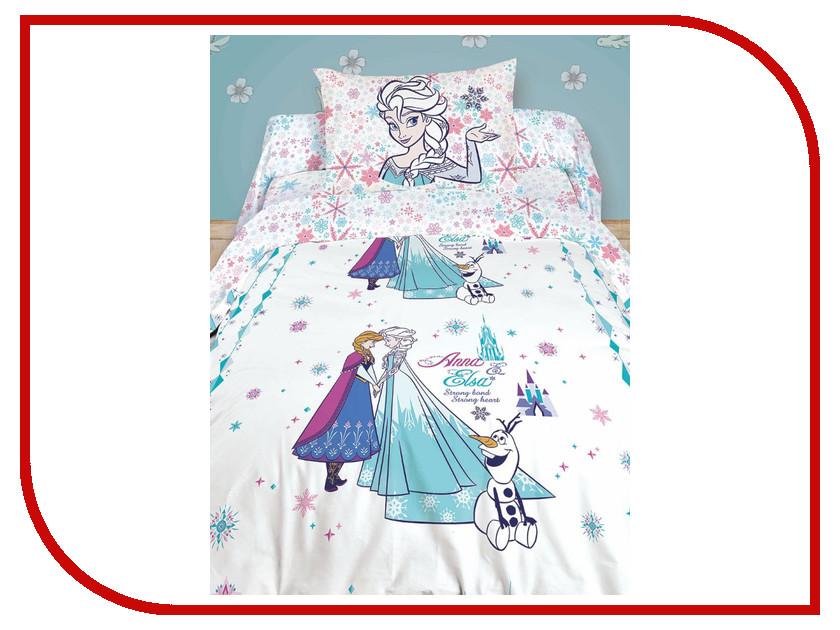 Постельное белье Disney Anna&Elsa Комплект 1.5 спальный 716923 цена 2017